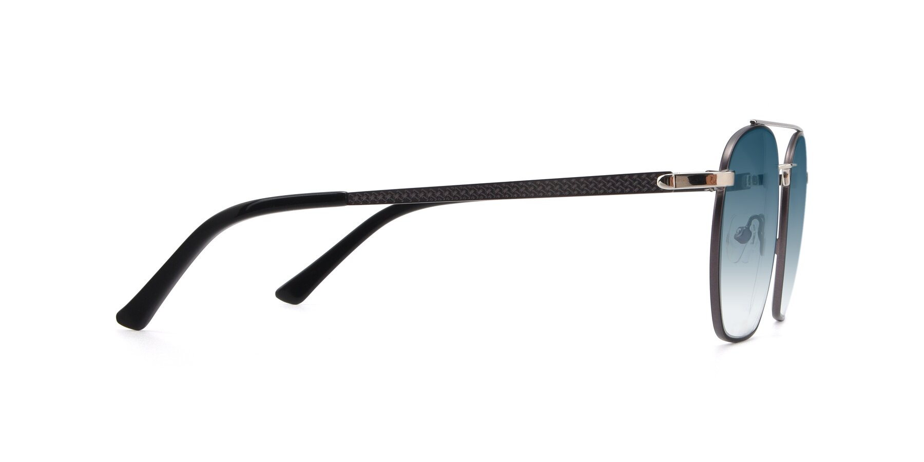 Side of 9425 in Black-Silver with Blue Gradient Lenses
