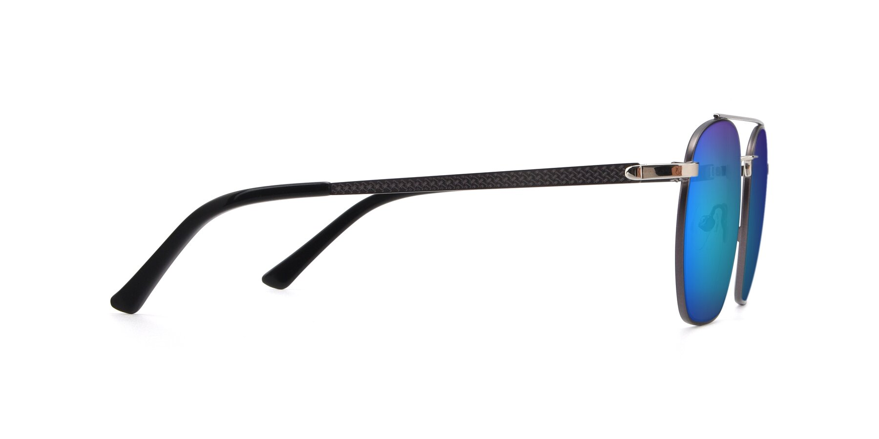 Side of 9425 in Black-Silver with Blue Mirrored Lenses