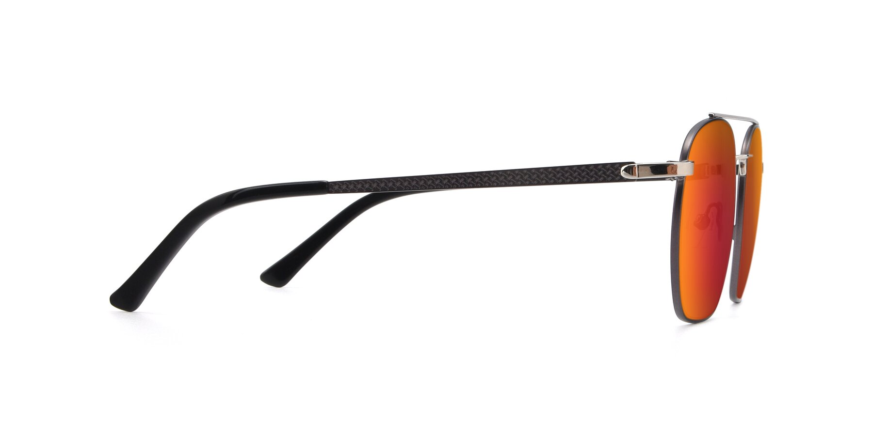 Side of 9425 in Black-Silver with Red Gold Mirrored Lenses