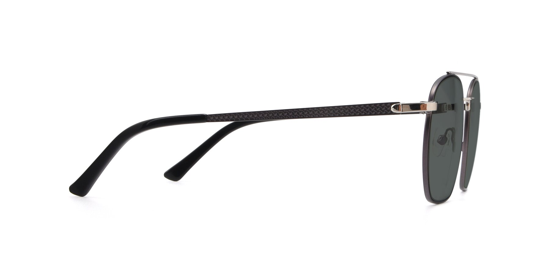 Side of 9425 in Black-Silver with Gray Polarized Lenses