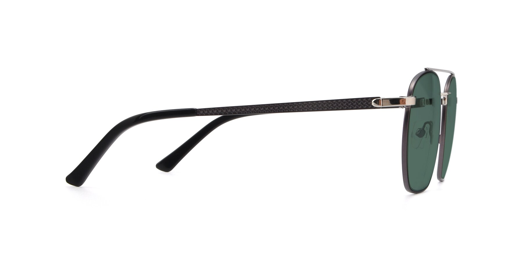 Side of 9425 in Black-Silver with Green Polarized Lenses