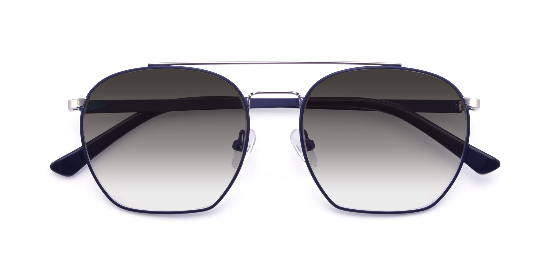 Folded Front of 9425 in Blue-Silver with Gray Gradient Lenses