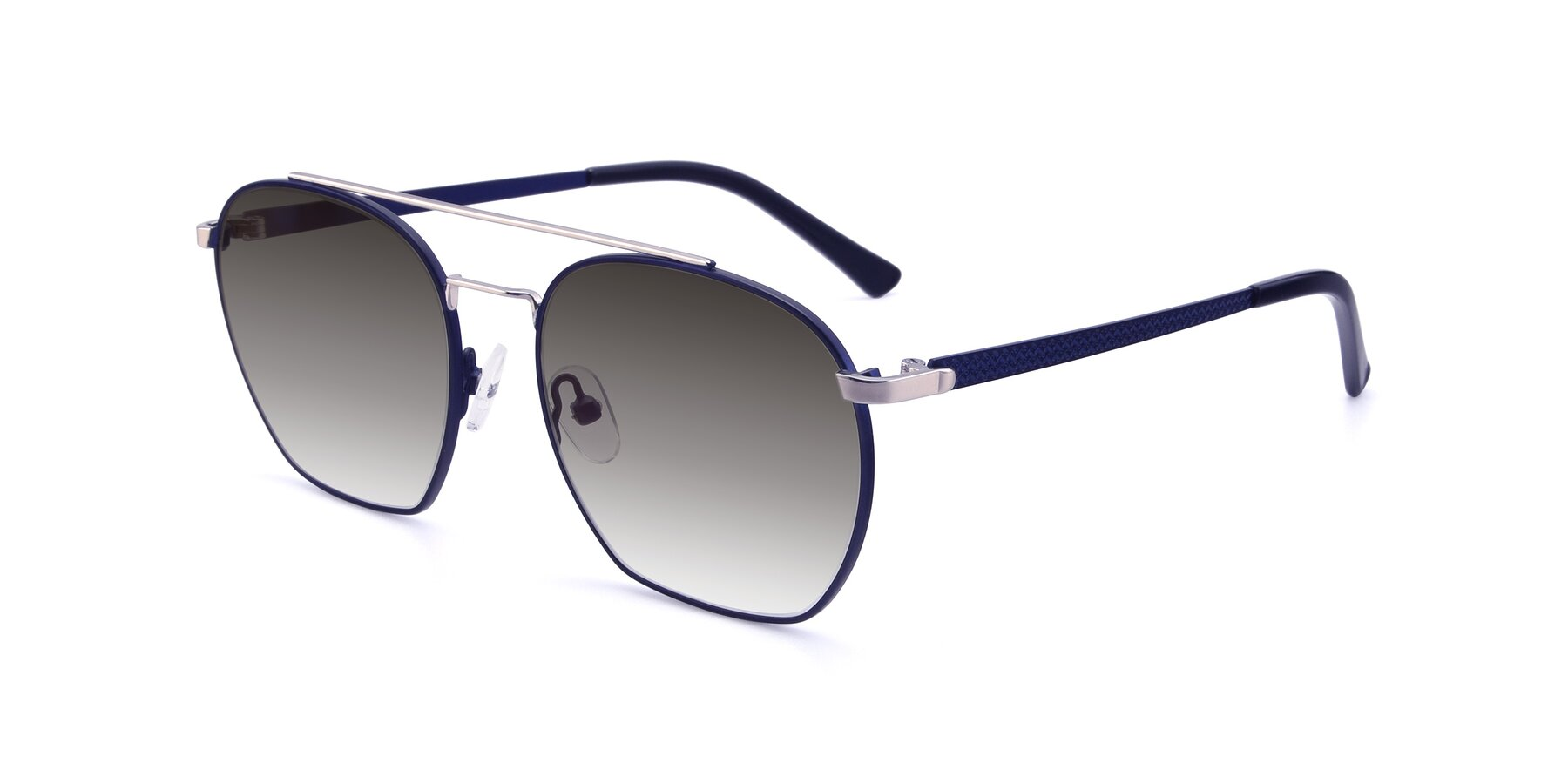 Angle of 9425 in Blue-Silver with Gray Gradient Lenses