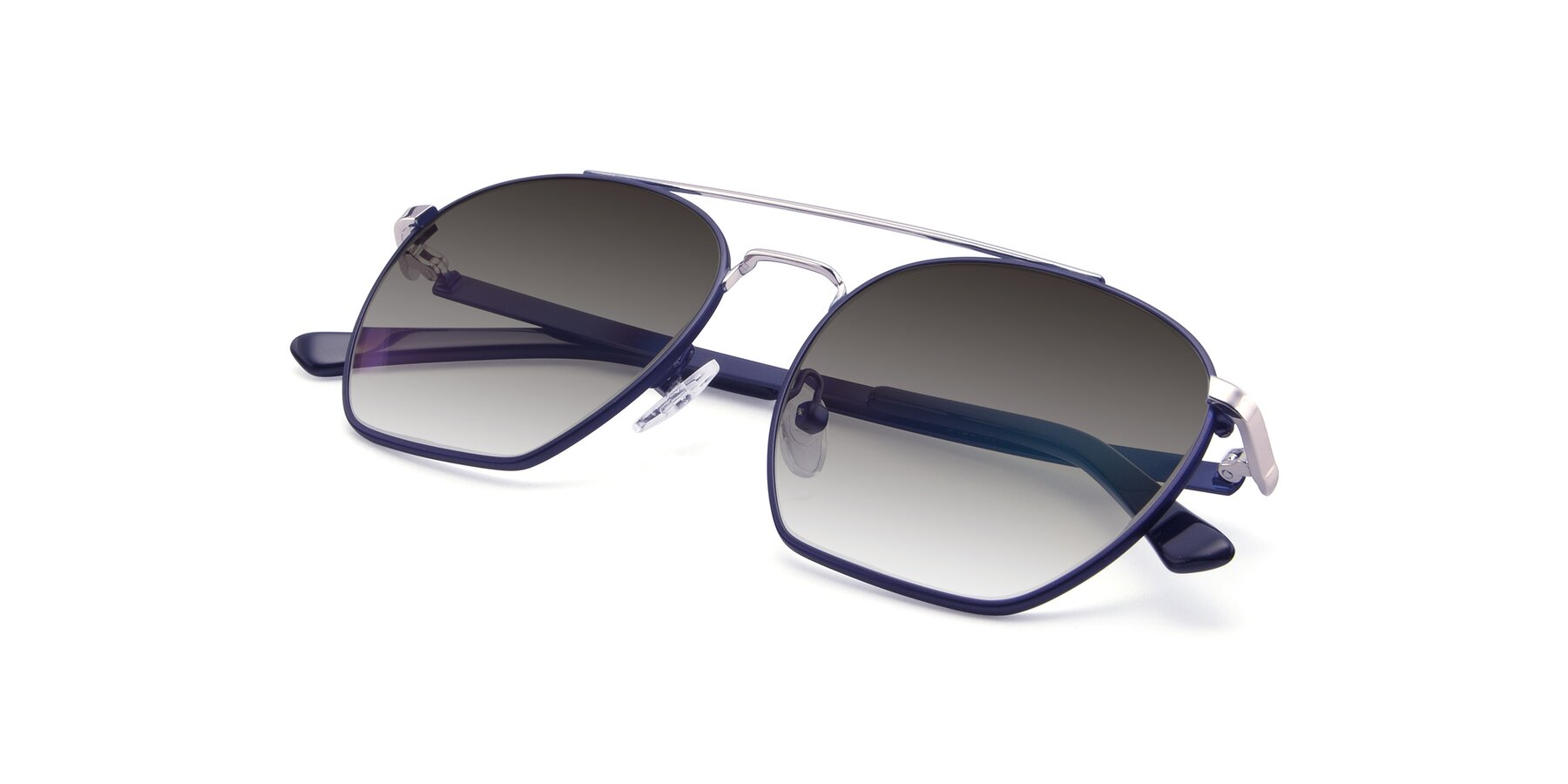View of 9425 in Blue-Silver with Gray Gradient Lenses
