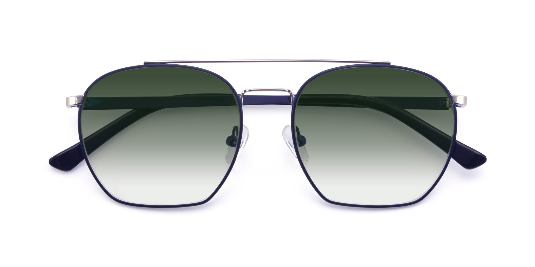 Folded Front of 9425 in Blue-Silver with Green Gradient Lenses