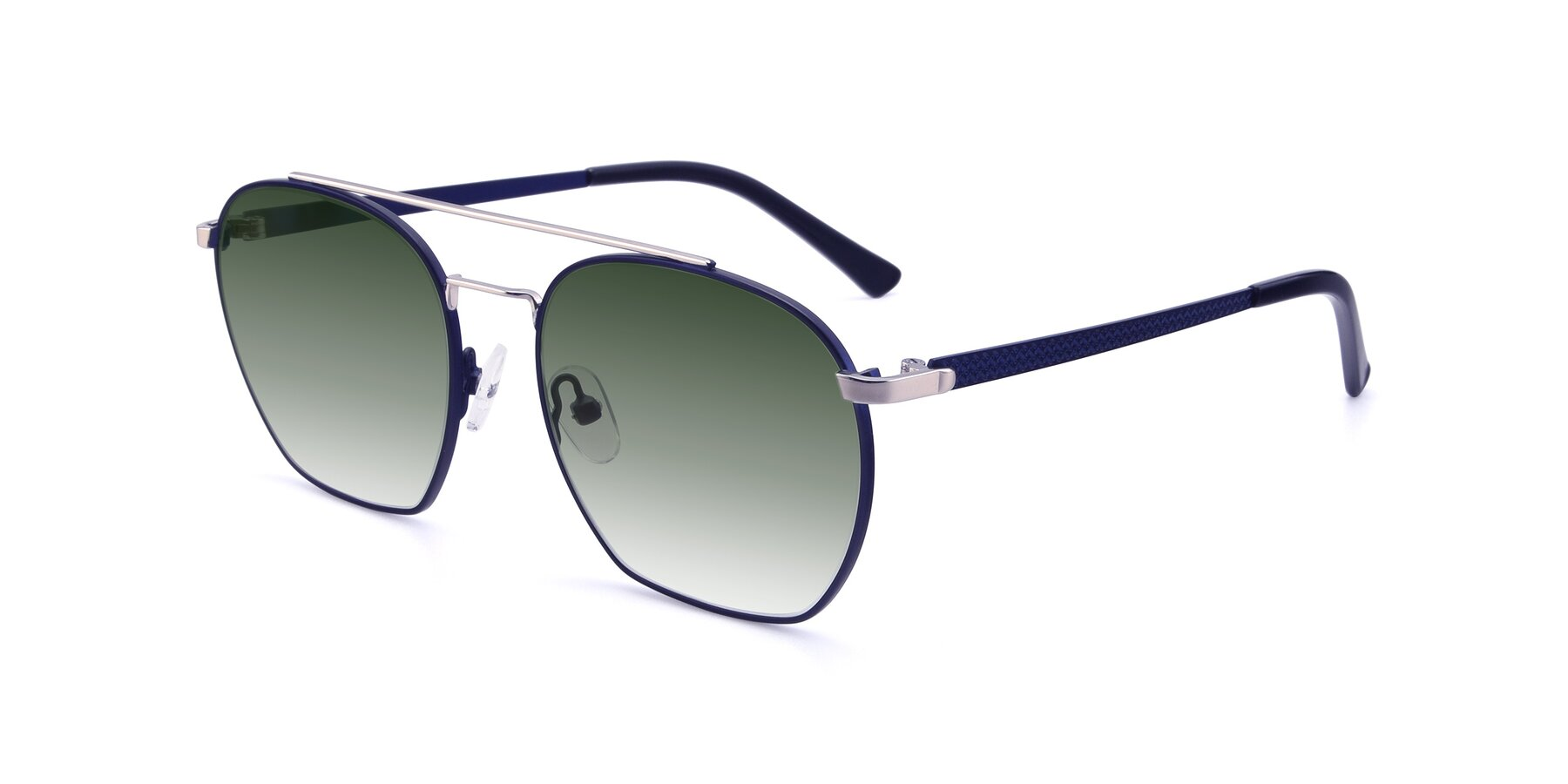 Angle of 9425 in Blue-Silver with Green Gradient Lenses