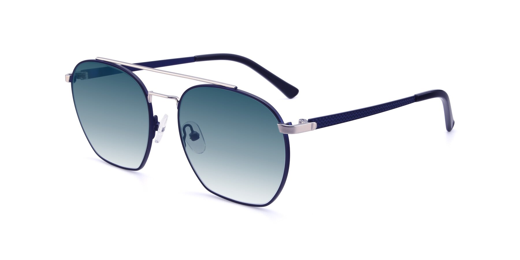 Angle of 9425 in Blue-Silver with Blue Gradient Lenses