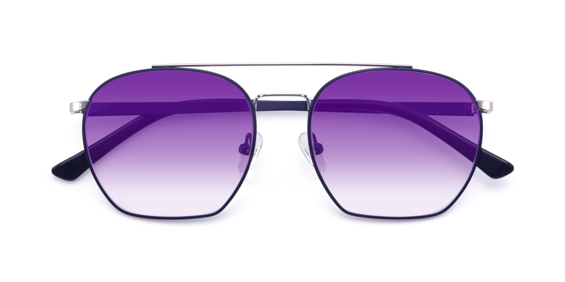 Folded Front of 9425 in Blue-Silver with Purple Gradient Lenses