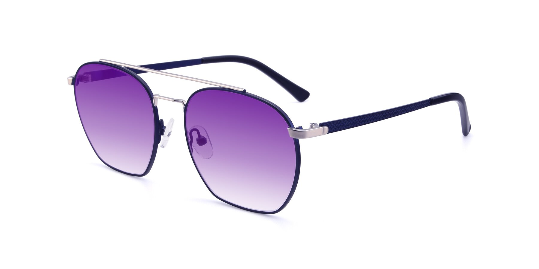 Angle of 9425 in Blue-Silver with Purple Gradient Lenses