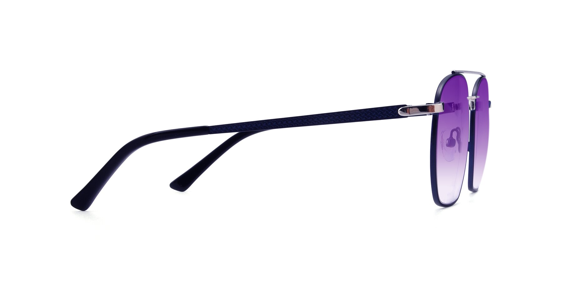 Side of 9425 in Blue-Silver with Purple Gradient Lenses