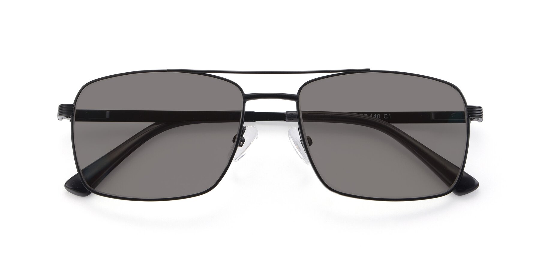 Folded Front of 9469 in Black with Medium Gray Tinted Lenses