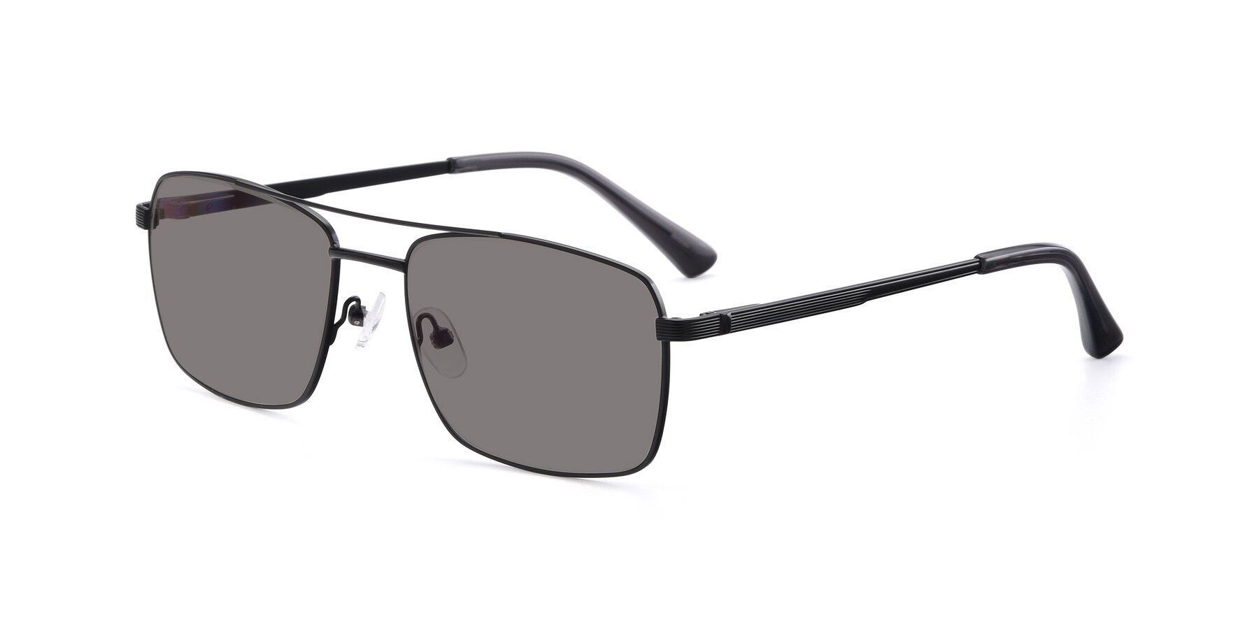 Angle of 9469 in Black with Medium Gray Tinted Lenses