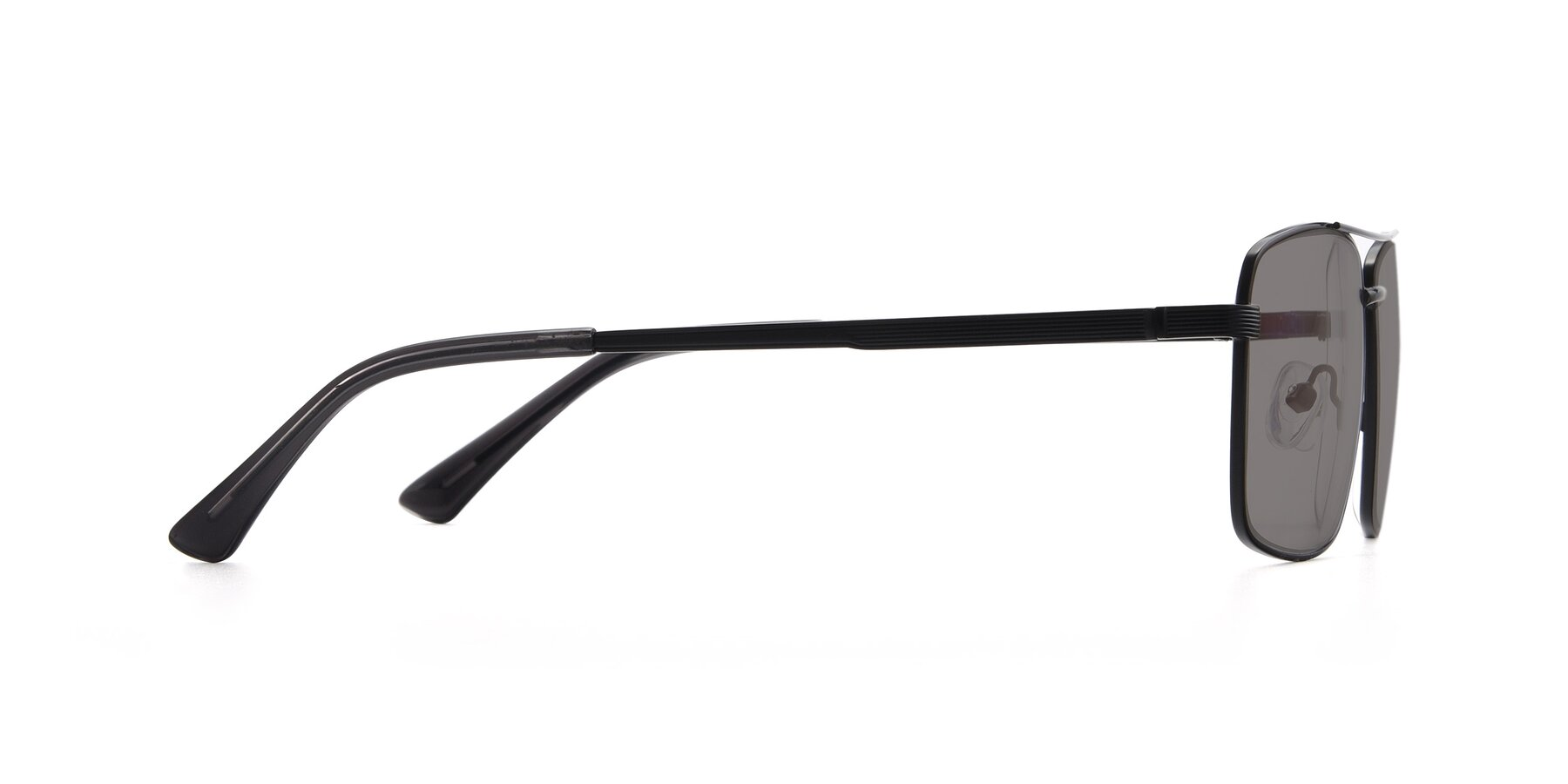 Side of 9469 in Black with Medium Gray Tinted Lenses