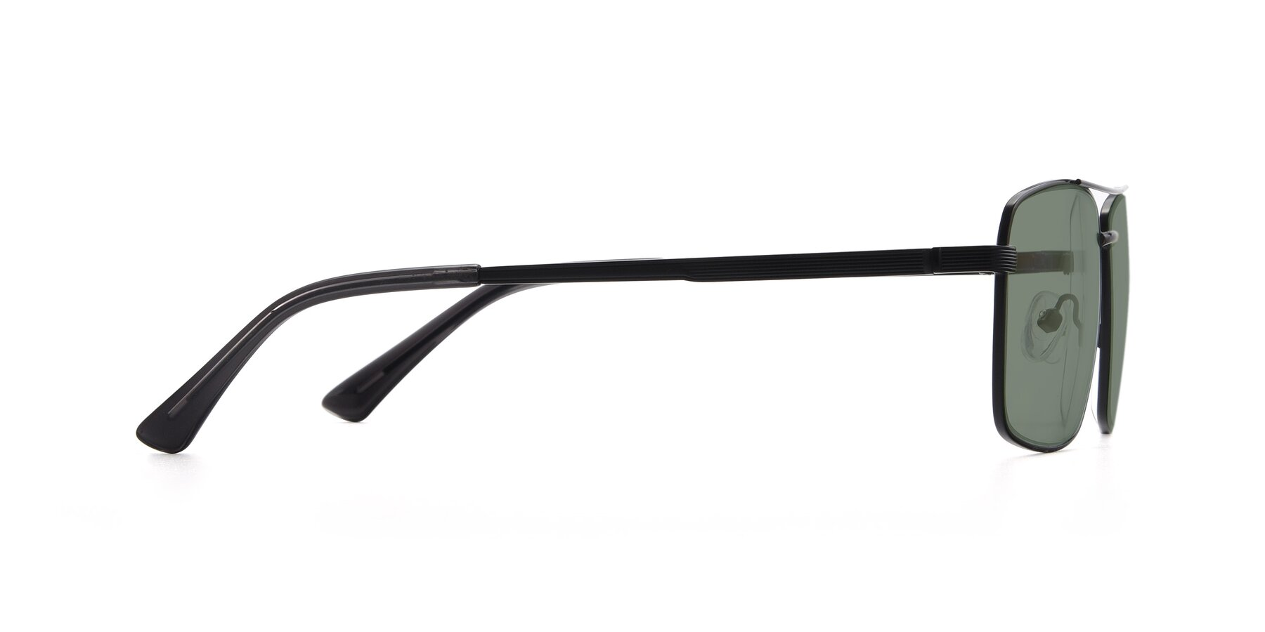 Side of 9469 in Black with Medium Green Tinted Lenses