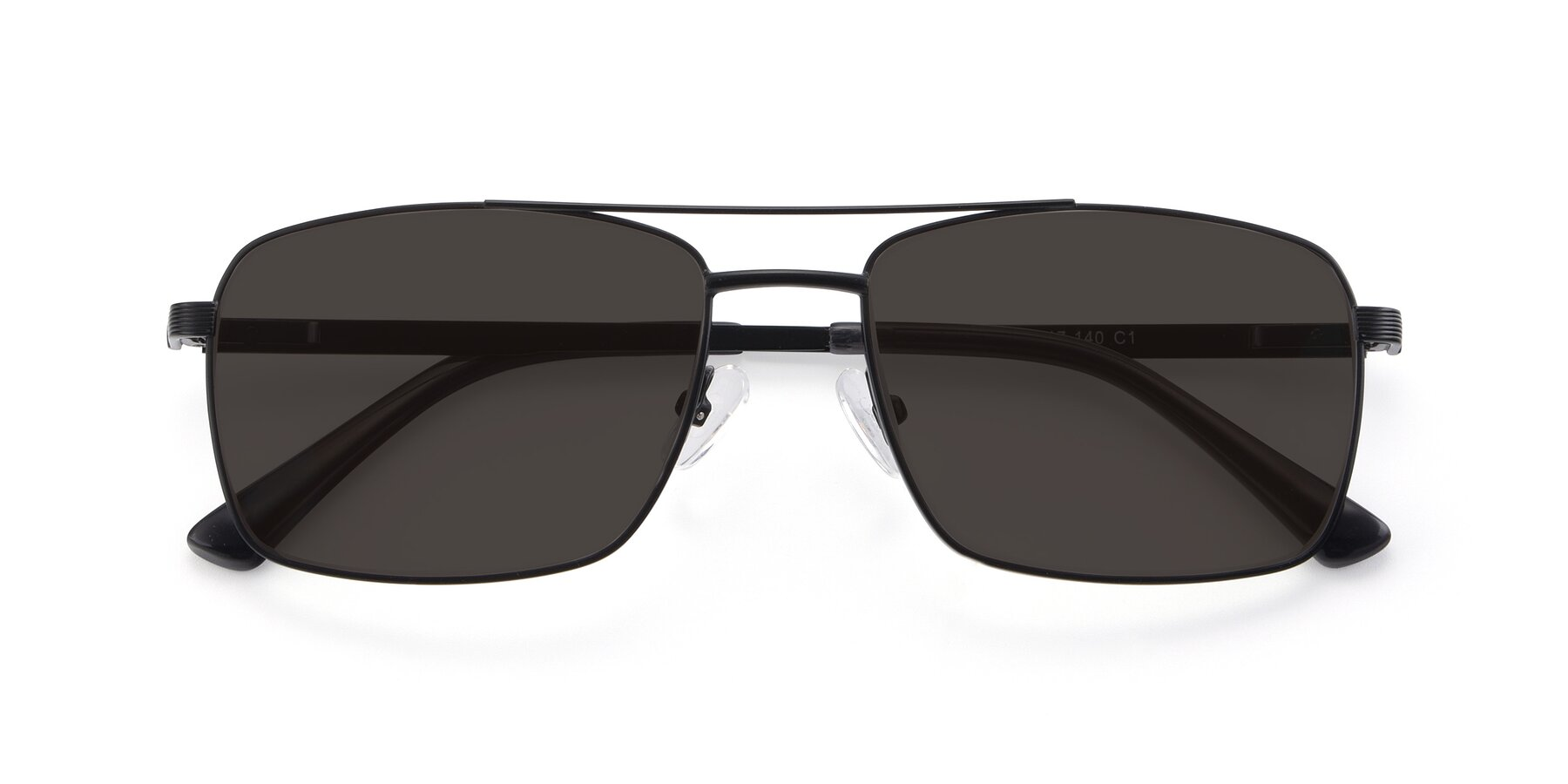 Folded Front of 9469 in Black with Gray Tinted Lenses