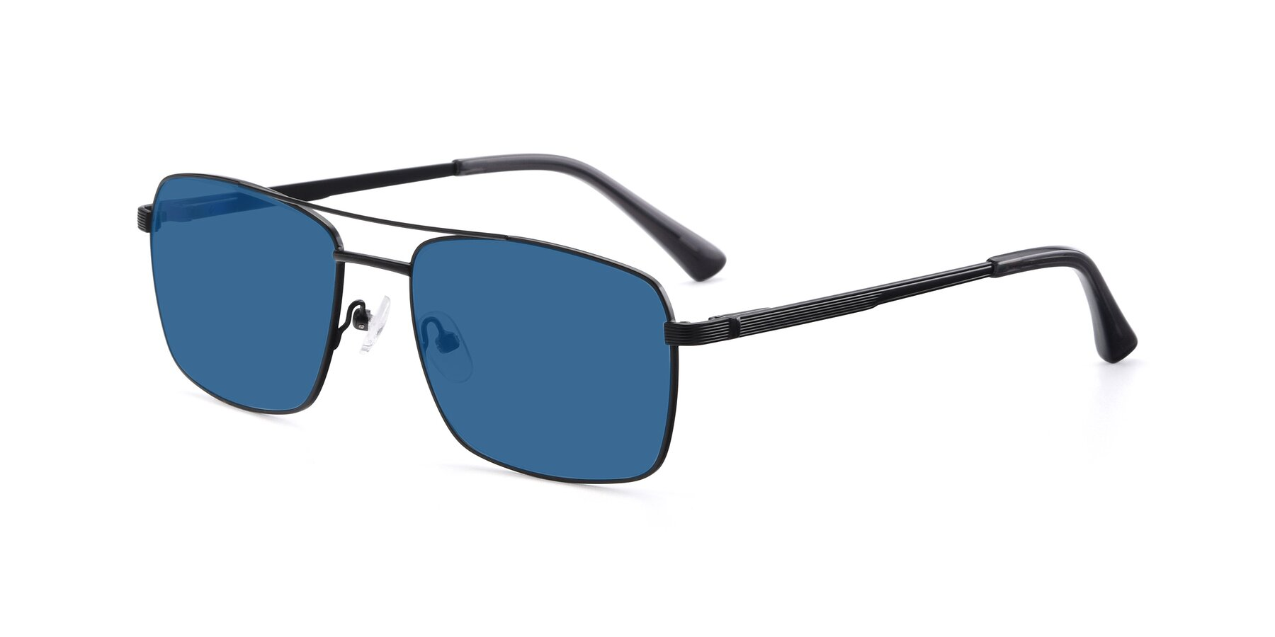 Angle of 9469 in Black with Blue Tinted Lenses