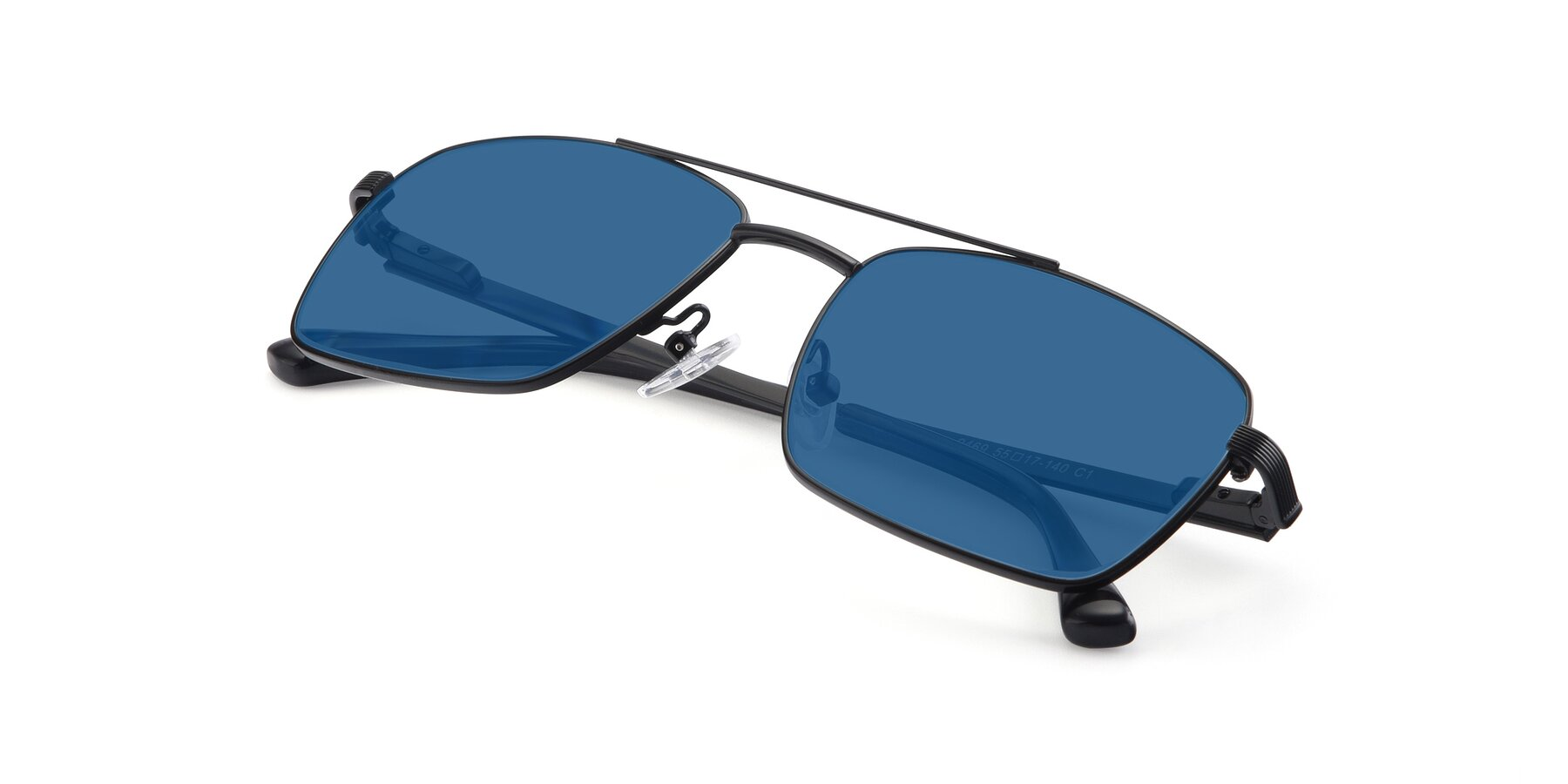 View of 9469 in Black with Blue Tinted Lenses