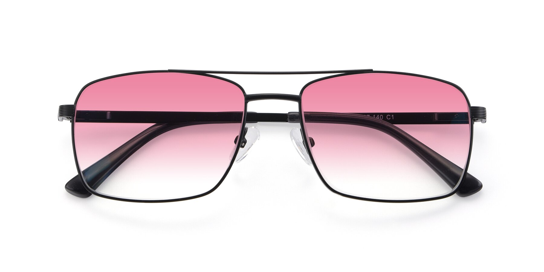 Folded Front of 9469 in Black with Pink Gradient Lenses