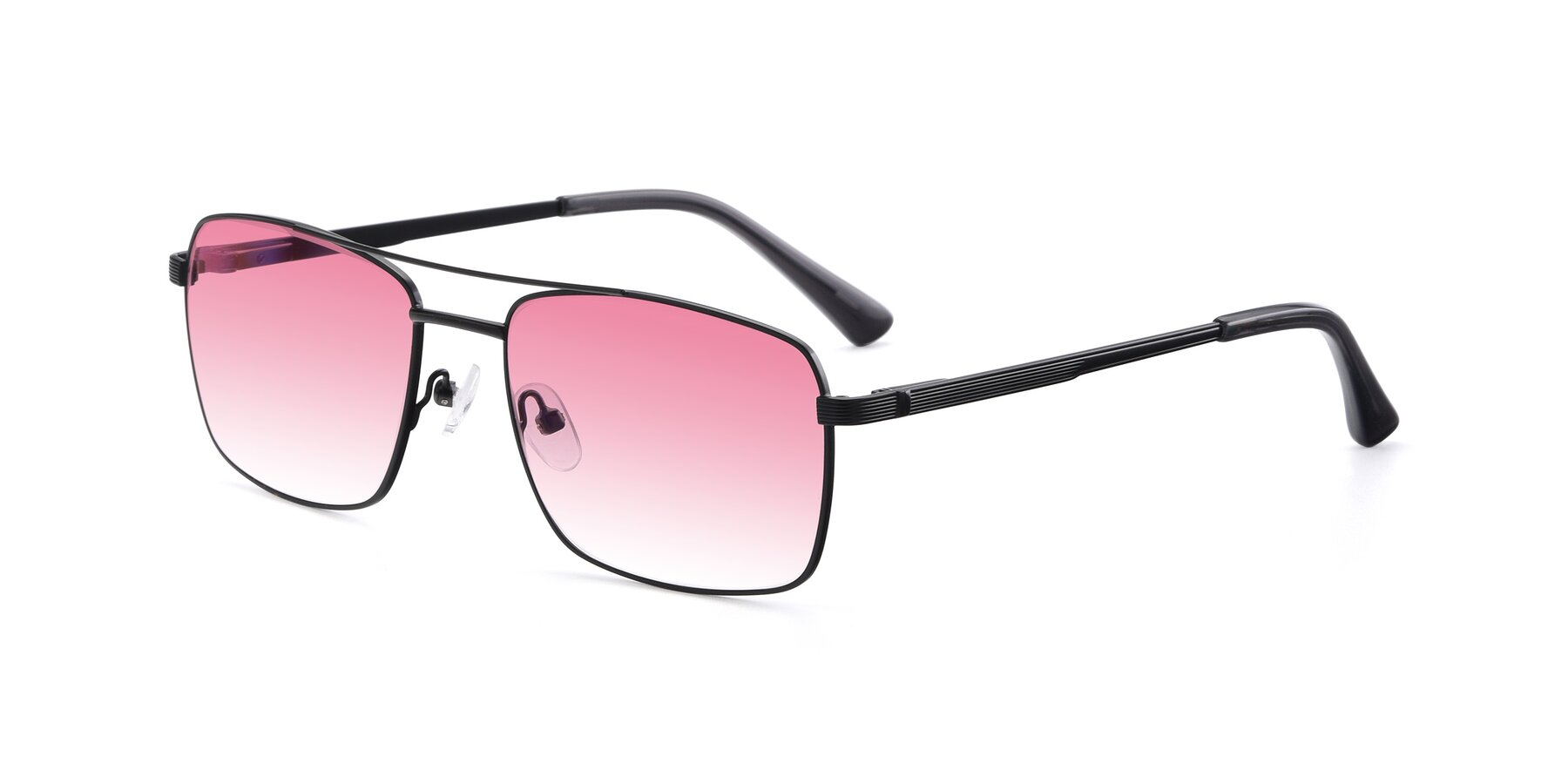 Angle of 9469 in Black with Pink Gradient Lenses