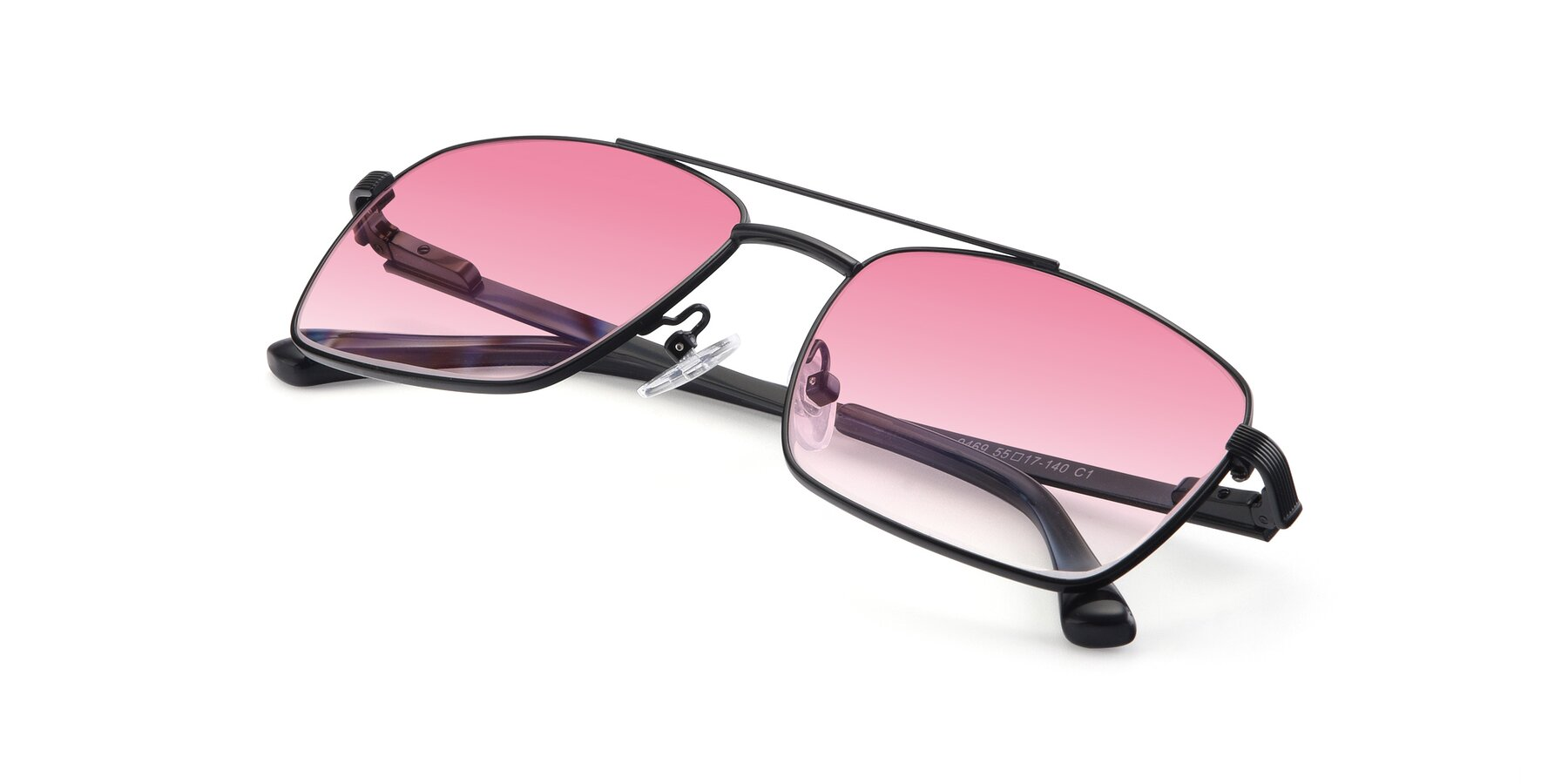 View of 9469 in Black with Pink Gradient Lenses