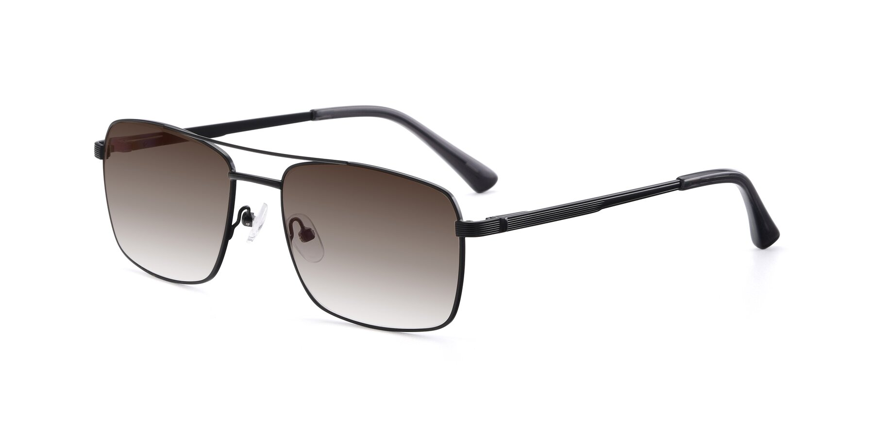 Angle of 9469 in Black with Brown Gradient Lenses
