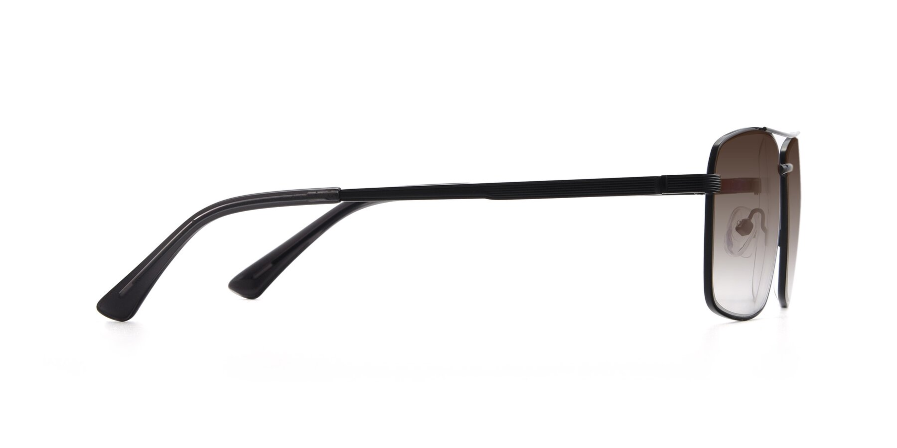 Side of 9469 in Black with Brown Gradient Lenses