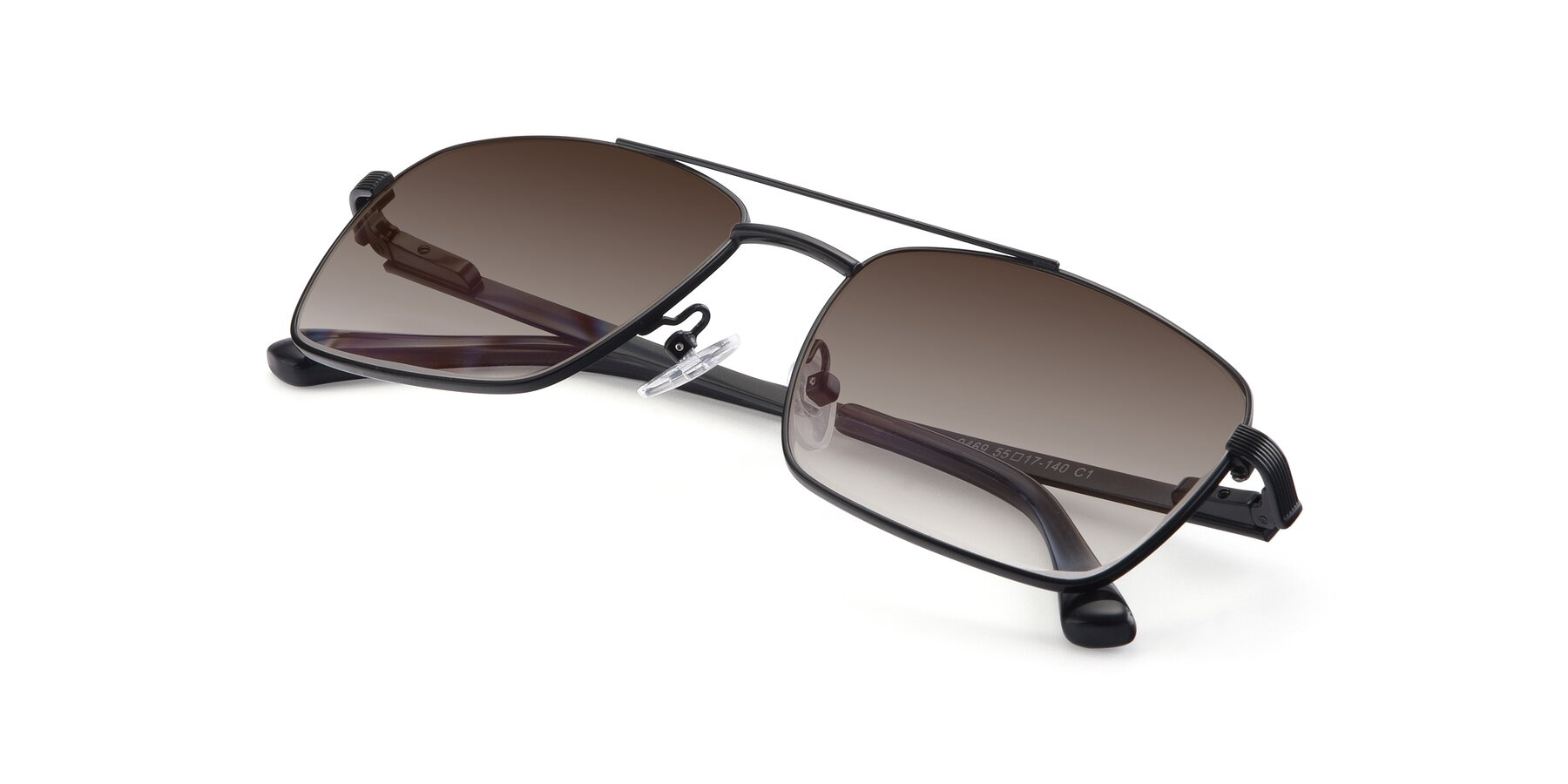 View of 9469 in Black with Brown Gradient Lenses