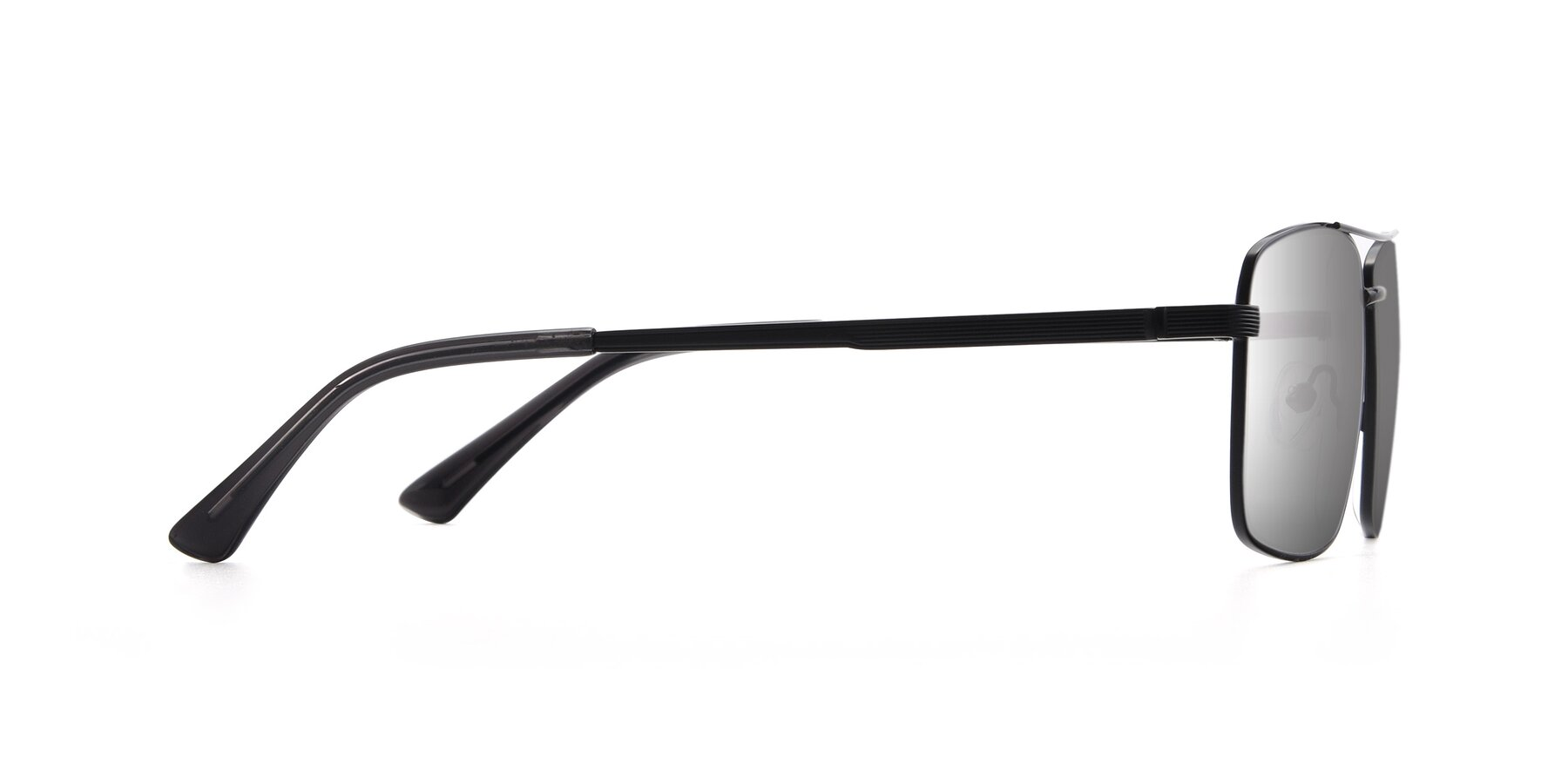 Side of 9469 in Black with Silver Mirrored Lenses