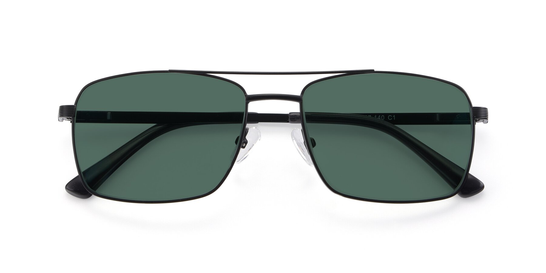 Folded Front of 9469 in Black with Green Polarized Lenses
