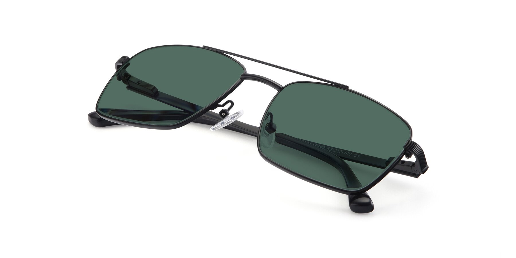 View of 9469 in Black with Green Polarized Lenses