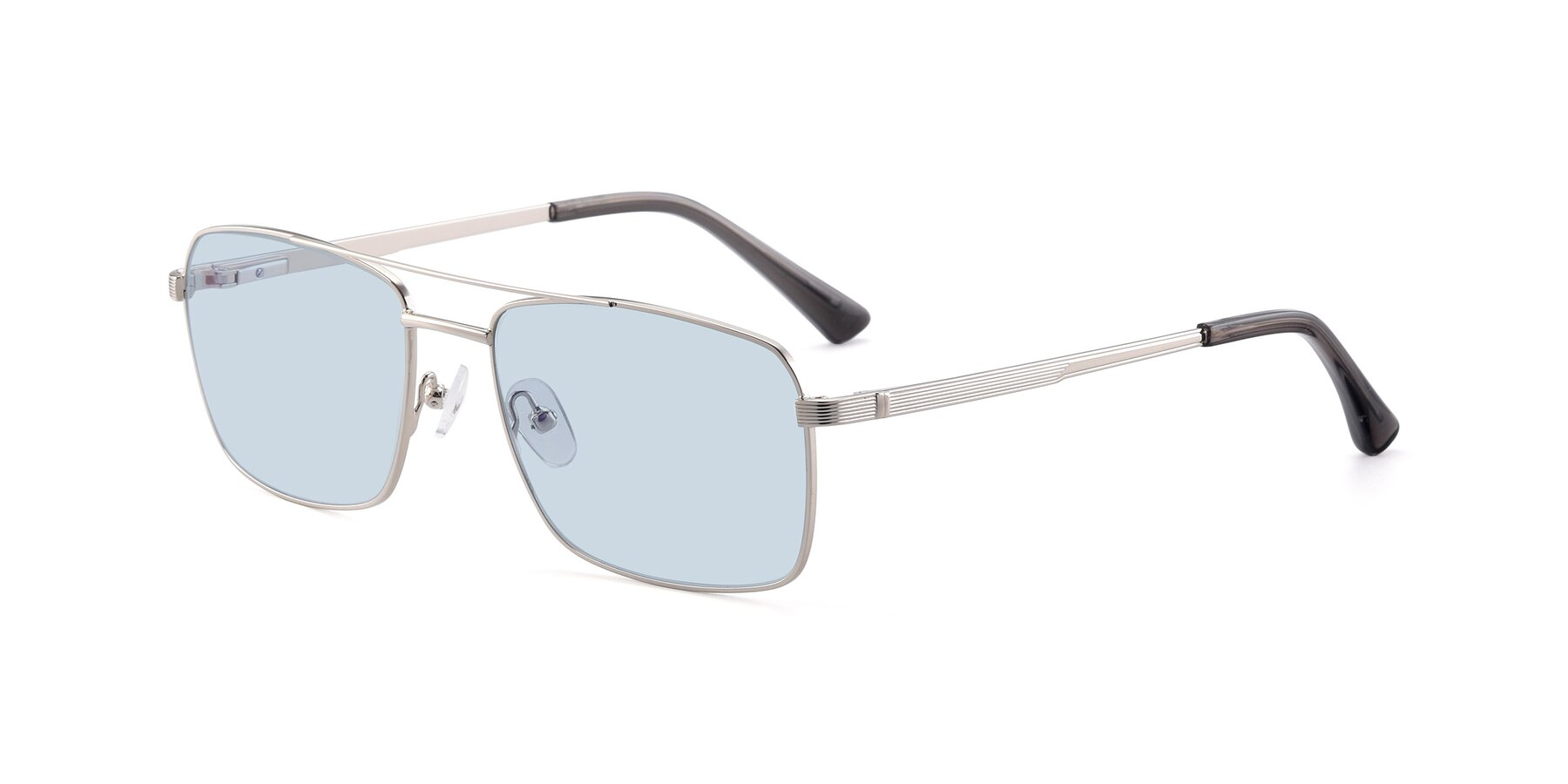 Angle of 9469 in Silver with Light Blue Tinted Lenses