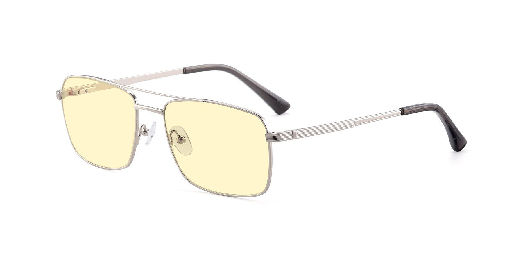 Angle of 9469 in Silver with Light Yellow Tinted Lenses