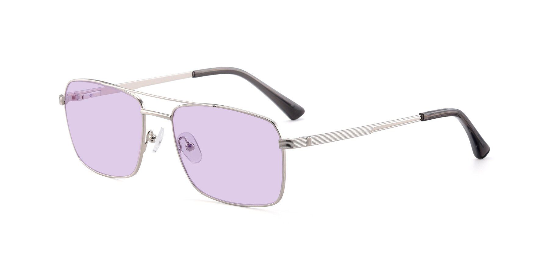 Angle of 9469 in Silver with Light Purple Tinted Lenses