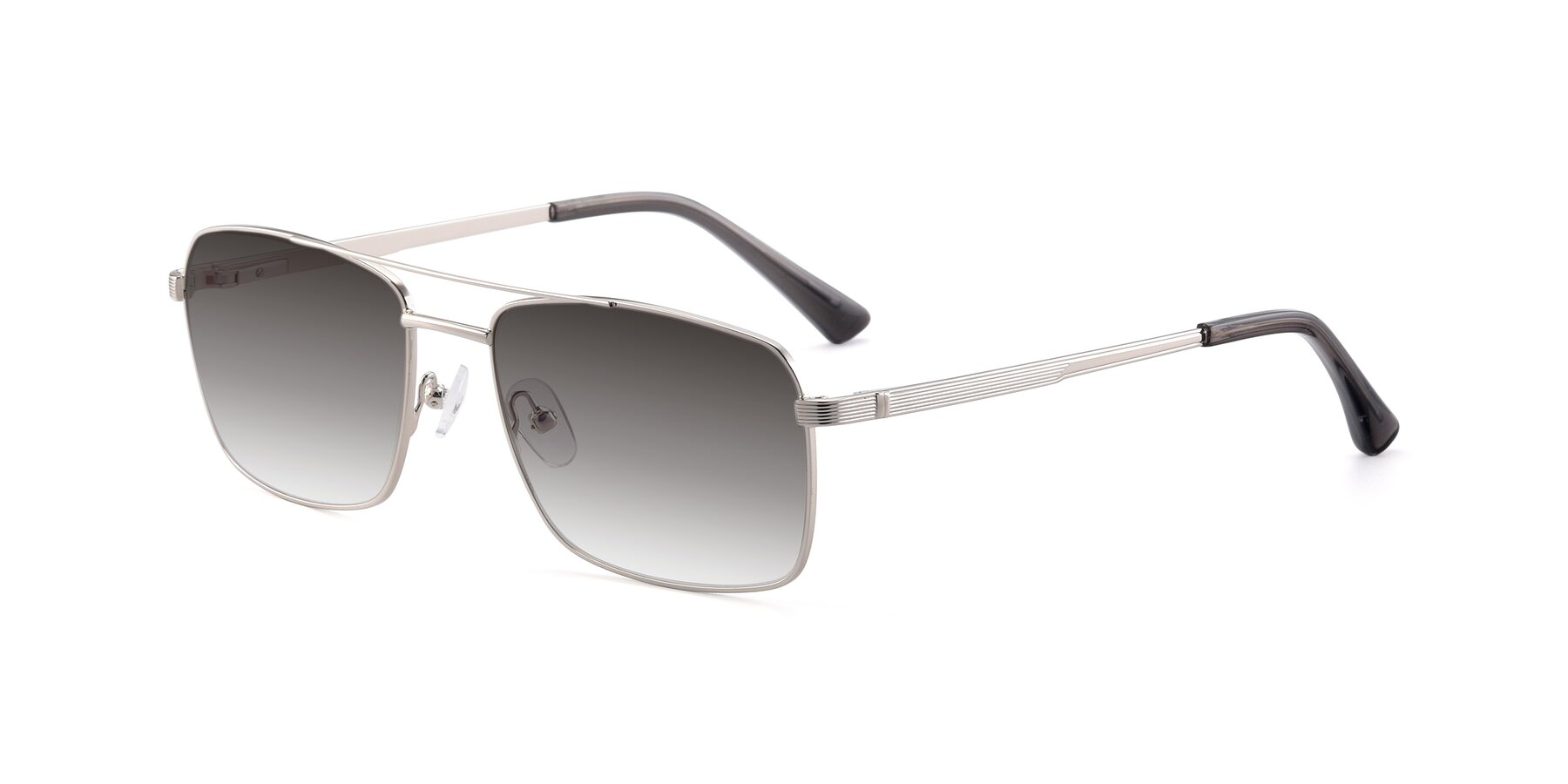 Angle of 9469 in Silver with Gray Gradient Lenses