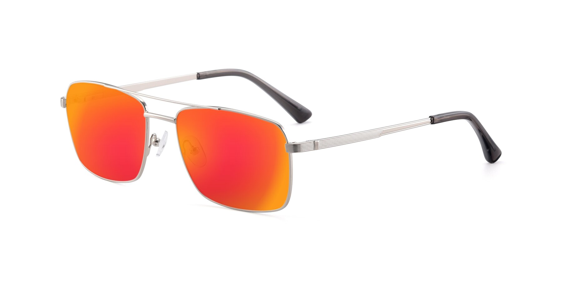 Angle of 9469 in Silver with Red Gold Mirrored Lenses