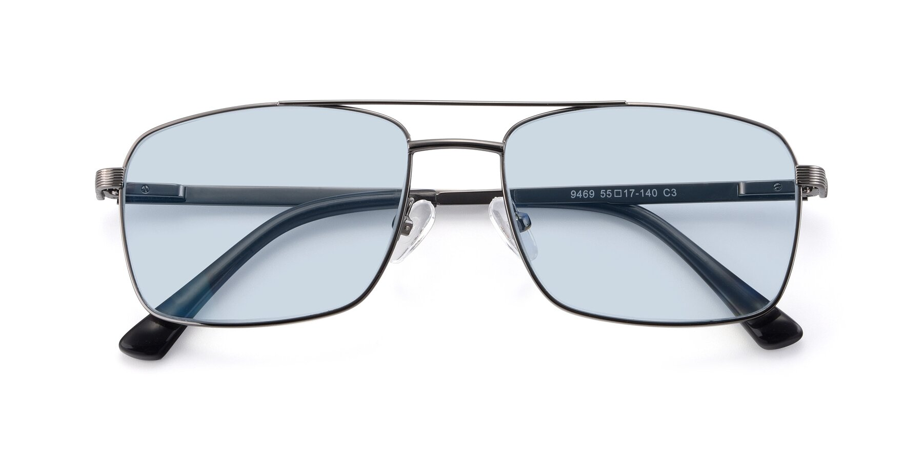 Folded Front of 9469 in Gun with Light Blue Tinted Lenses