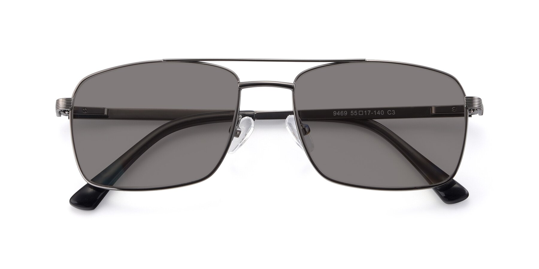 Folded Front of 9469 in Gun with Medium Gray Tinted Lenses