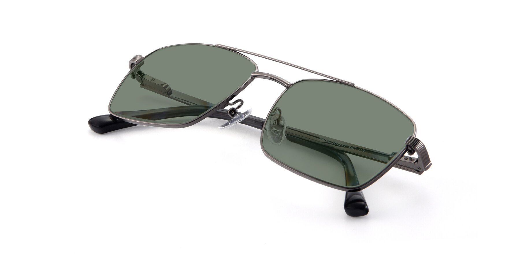 View of 9469 in Gun with Medium Green Tinted Lenses