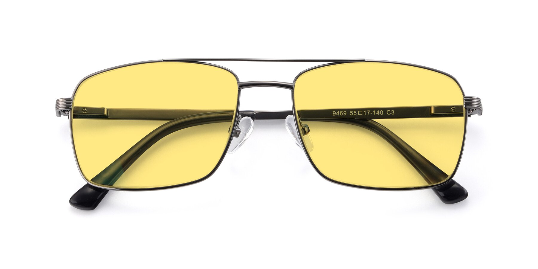 Folded Front of 9469 in Gun with Medium Yellow Tinted Lenses