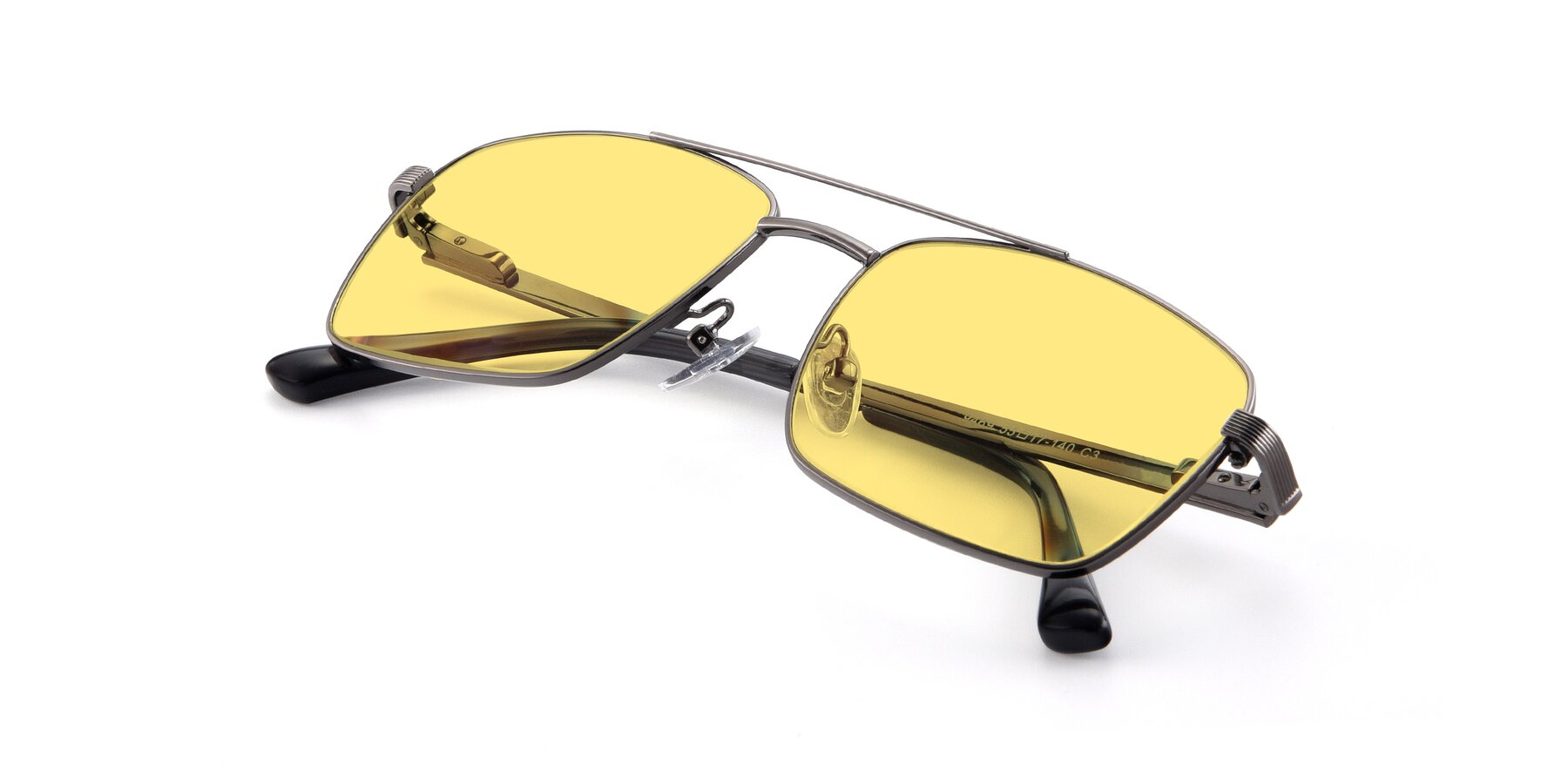 View of 9469 in Gun with Medium Yellow Tinted Lenses