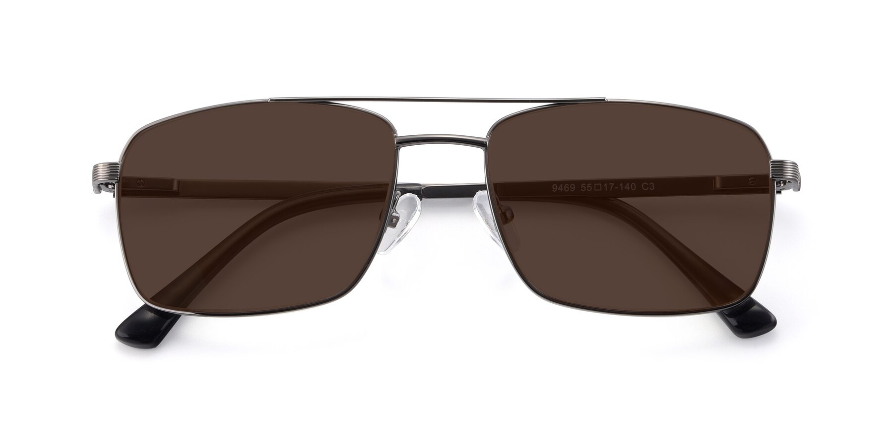 Folded Front of 9469 in Gun with Brown Tinted Lenses