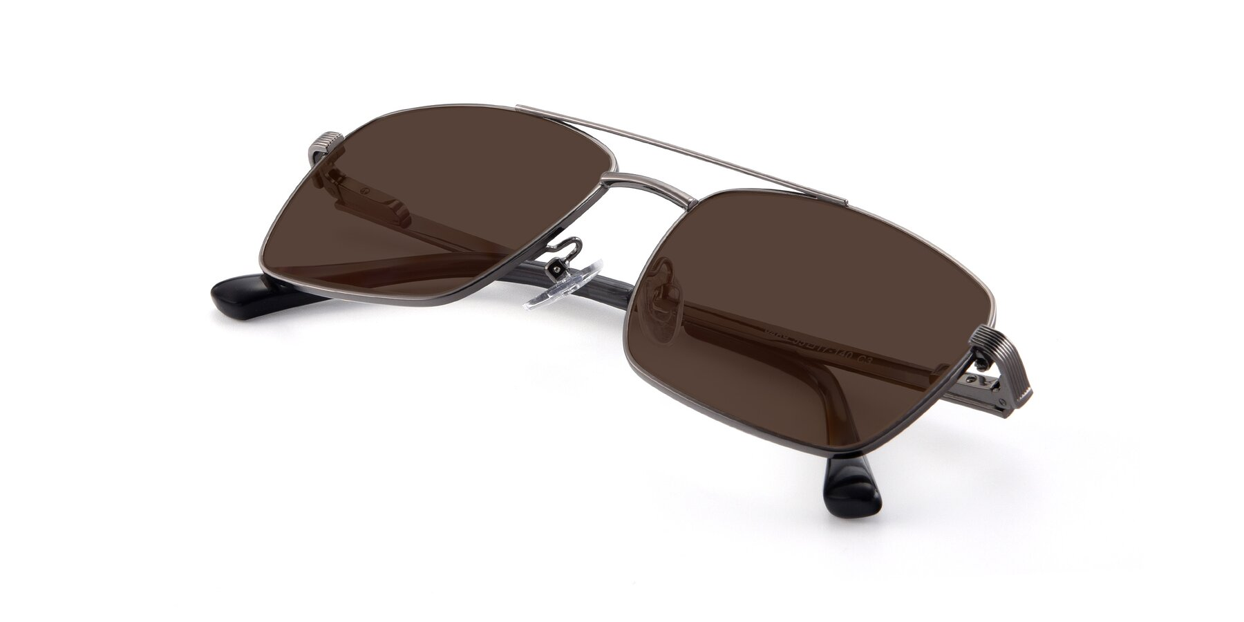 View of 9469 in Gun with Brown Tinted Lenses