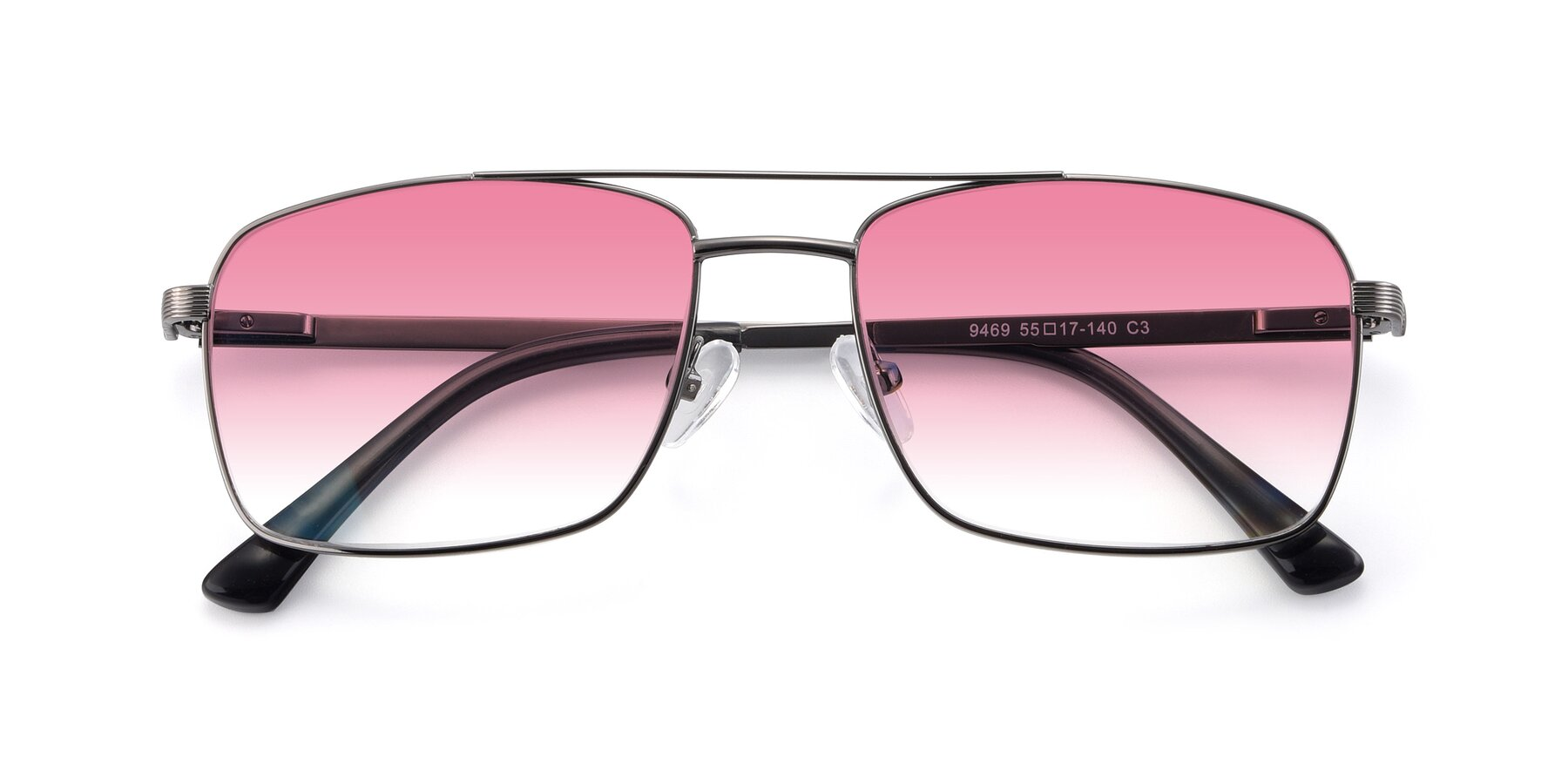 Folded Front of 9469 in Gun with Pink Gradient Lenses