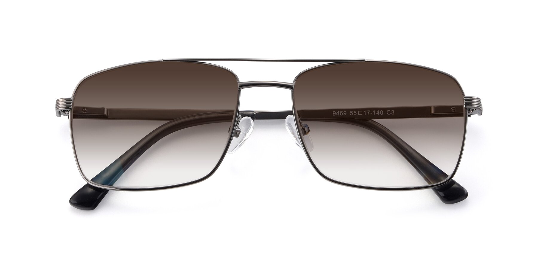 Folded Front of 9469 in Gun with Brown Gradient Lenses