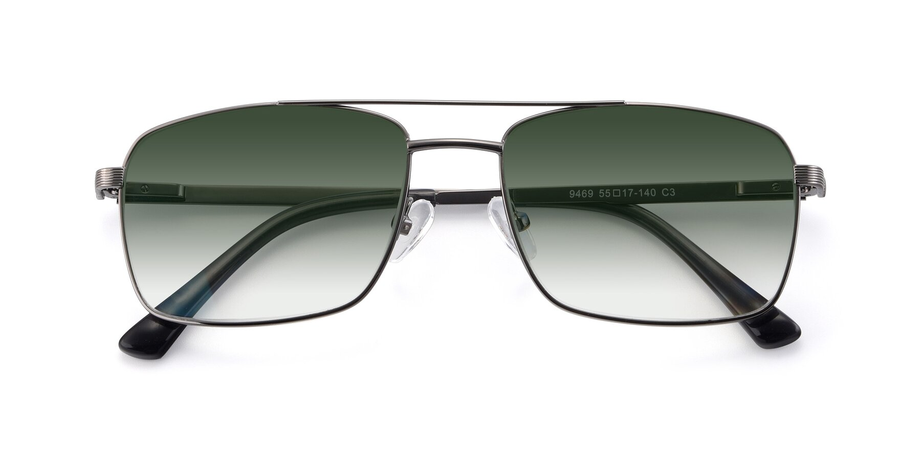 Folded Front of 9469 in Gun with Green Gradient Lenses