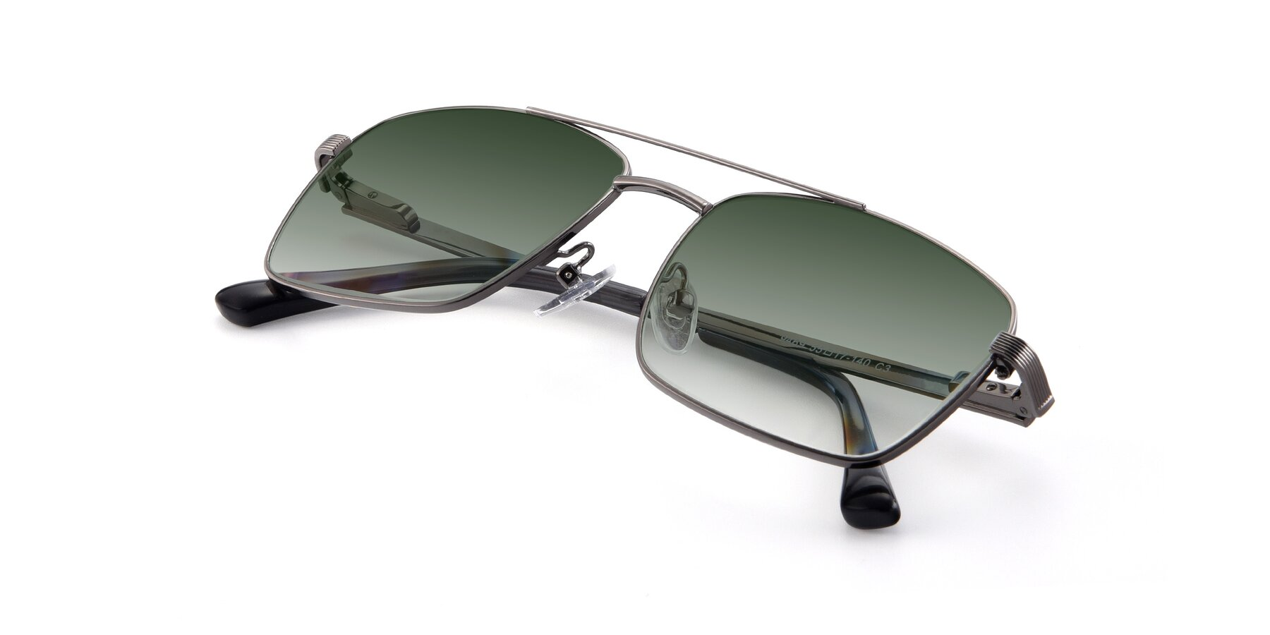 View of 9469 in Gun with Green Gradient Lenses