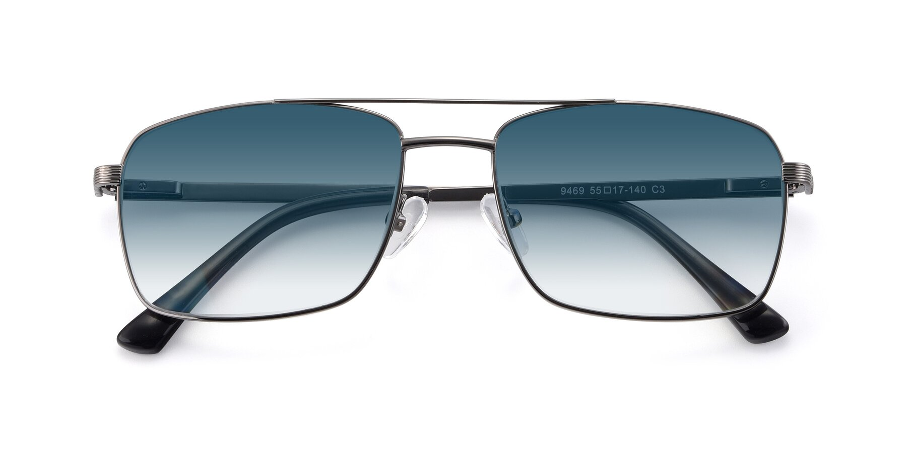Folded Front of 9469 in Gun with Blue Gradient Lenses