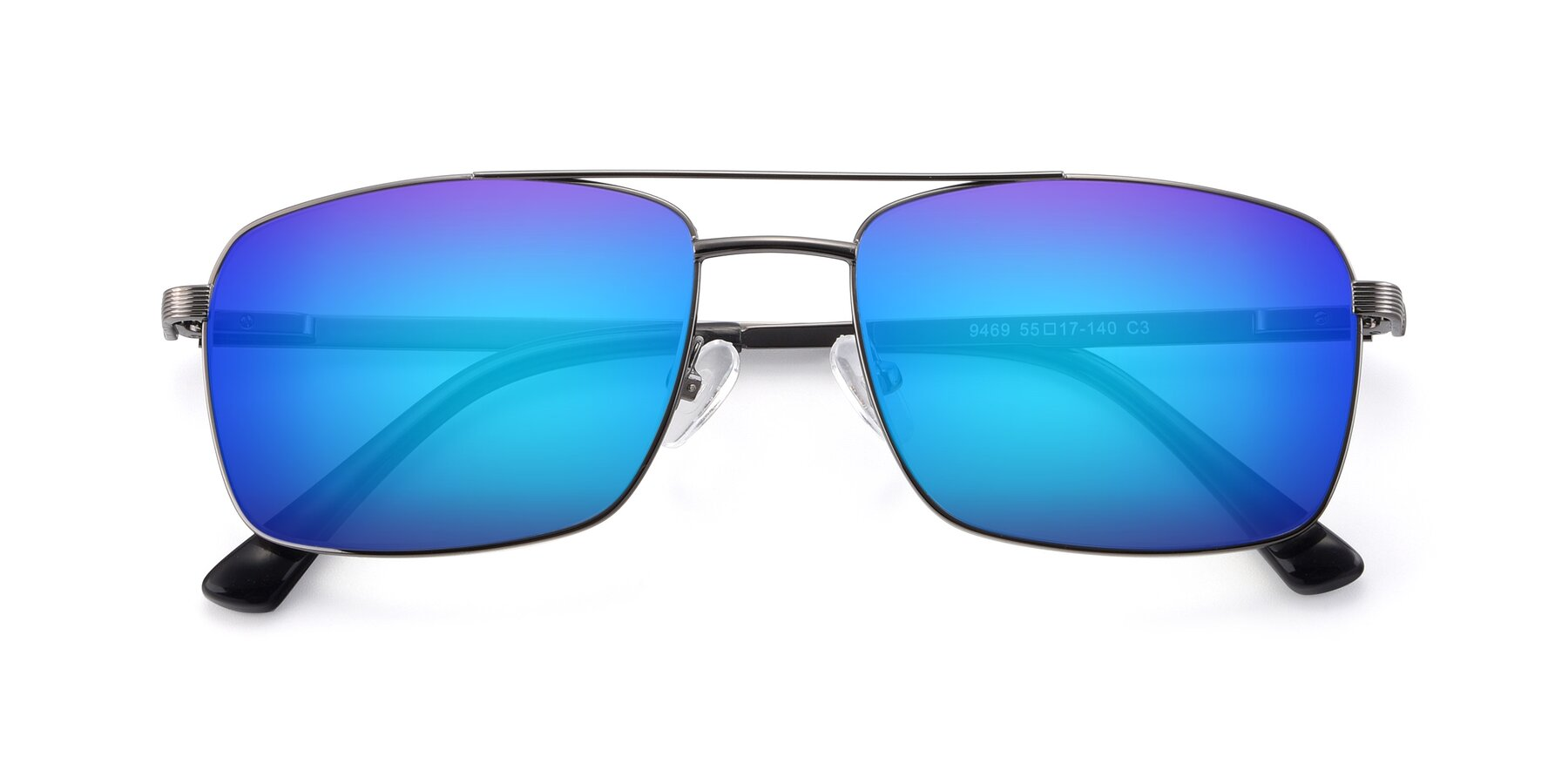 Folded Front of 9469 in Gun with Blue Mirrored Lenses