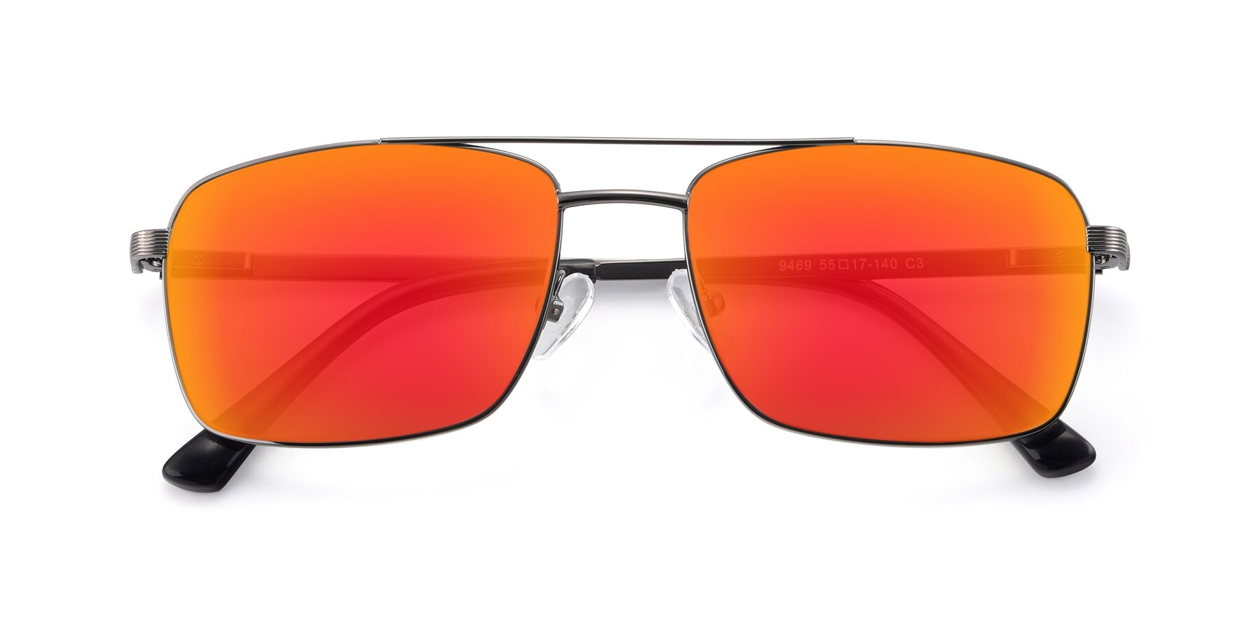 Folded Front of 9469 in Gun with Red Gold Mirrored Lenses