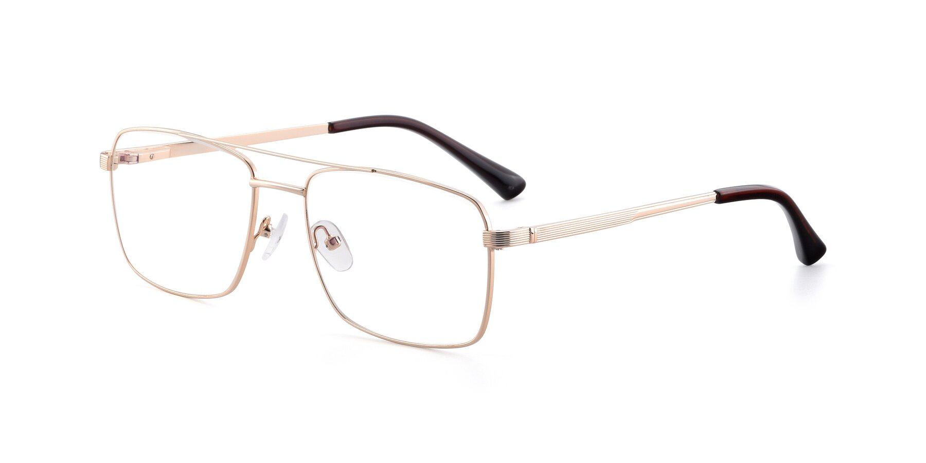 Angle of 9469 in Gold with Clear Eyeglass Lenses